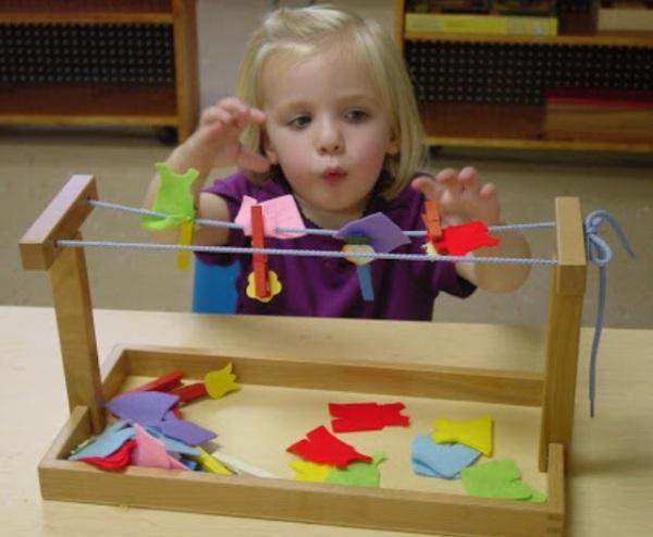 Монтессори материалы для малышей